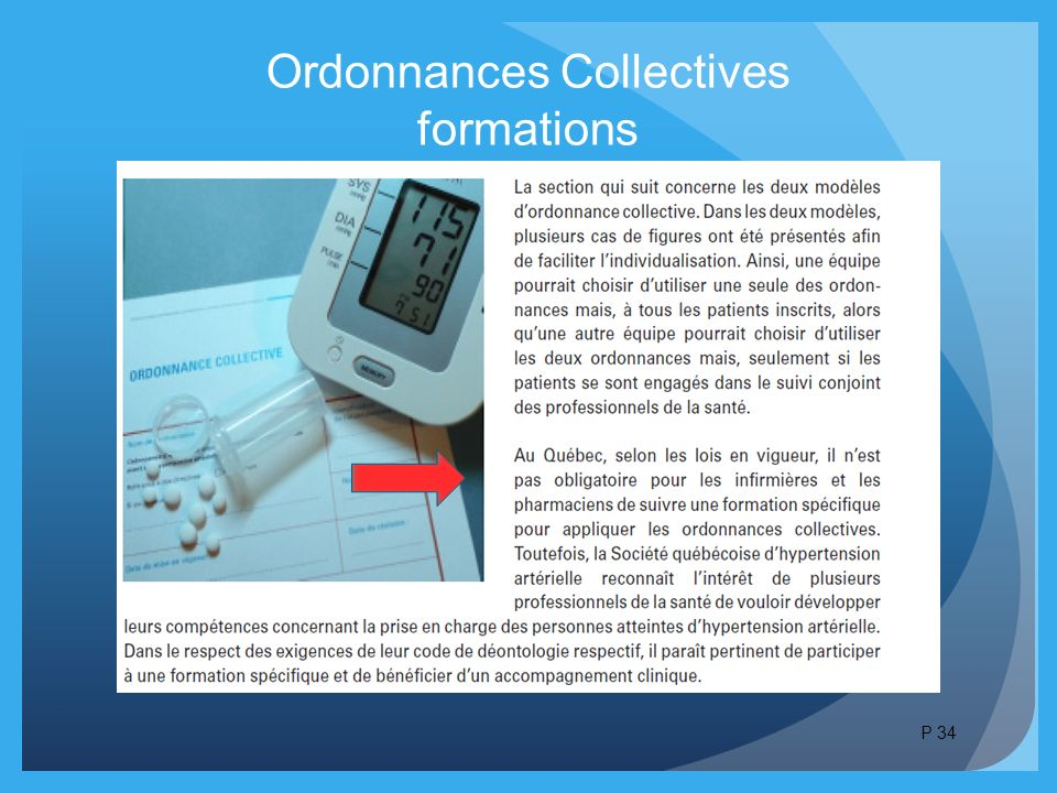 Ordonnances Collectives formations