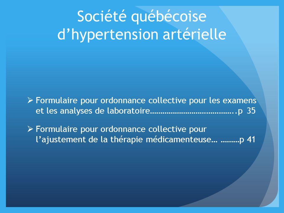 Société québécoise d'hypertension artérielle