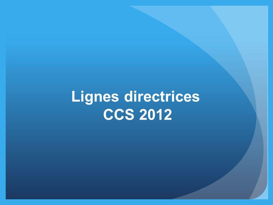 Lignes directrices CCS 2012