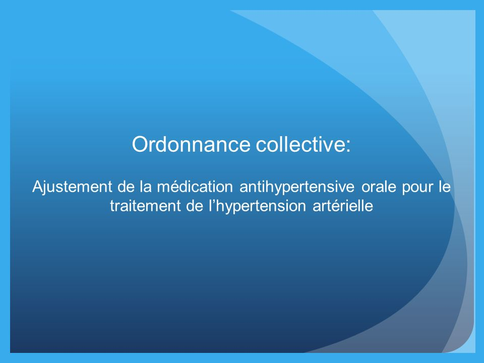 Ordonnance collective: