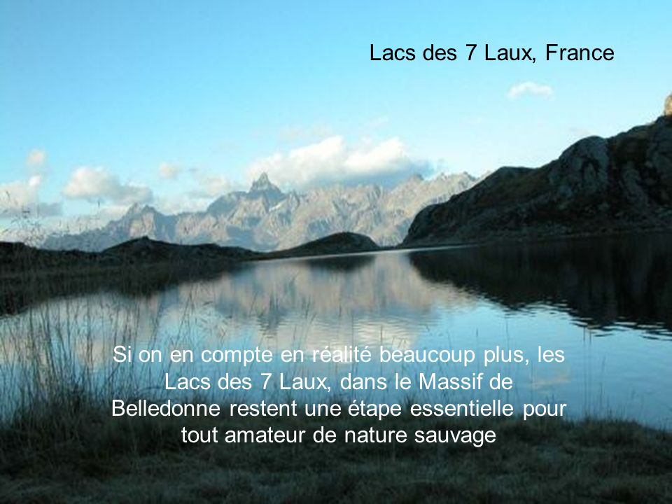 Lacs des 7 Laux, France