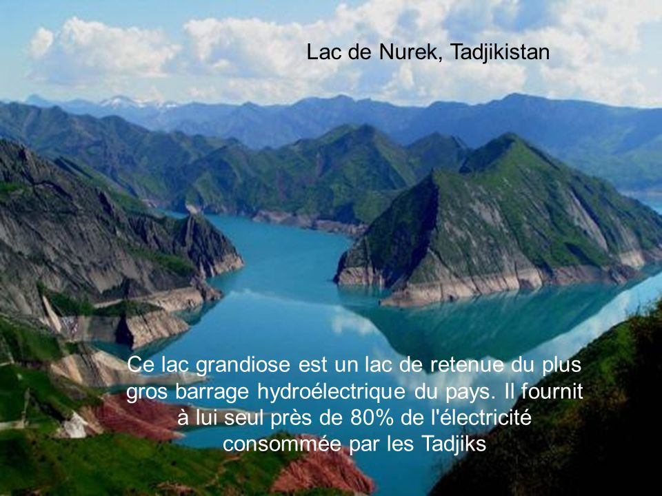 Lac de Nurek, Tadjikistan