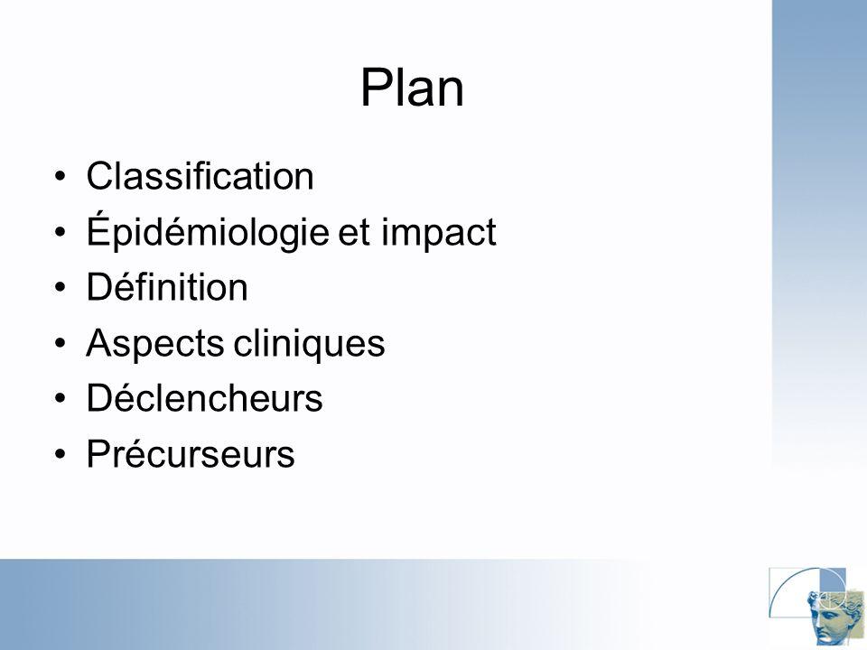 Plan Classification Épidémiologie et impact Définition