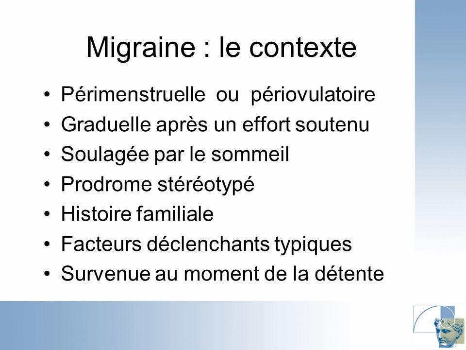 Migraine : le contexte Périmenstruelle ou périovulatoire