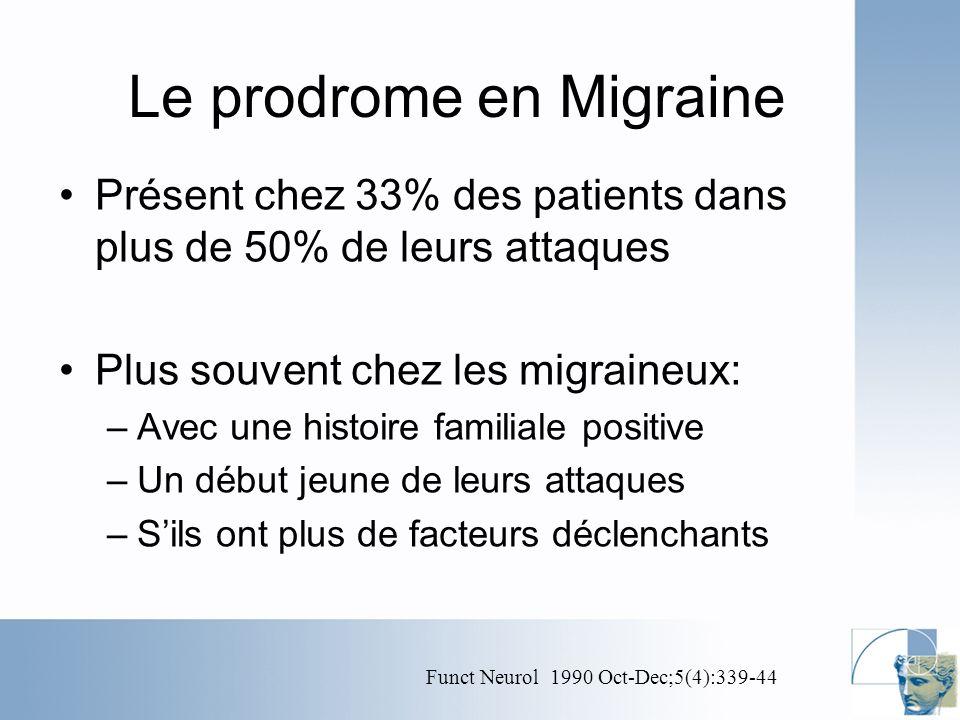 Le prodrome en Migraine