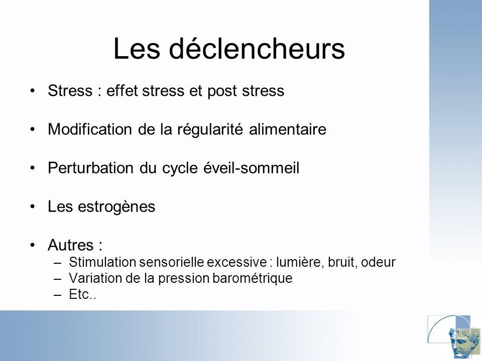 Les déclencheurs Stress : effet stress et post stress