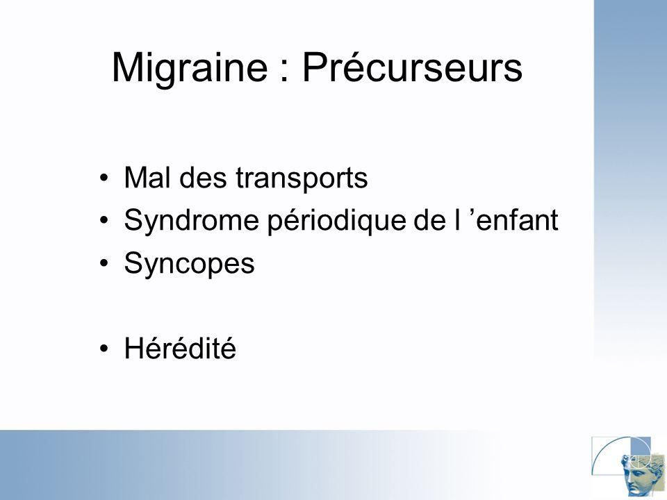 Migraine : Précurseurs