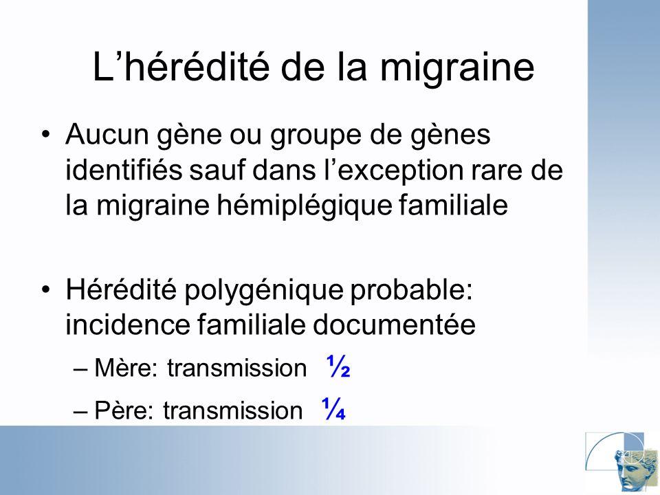 L'hérédité de la migraine