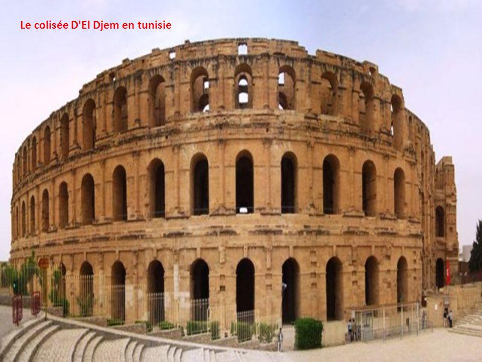 Le colisée D El Djem en tunisie