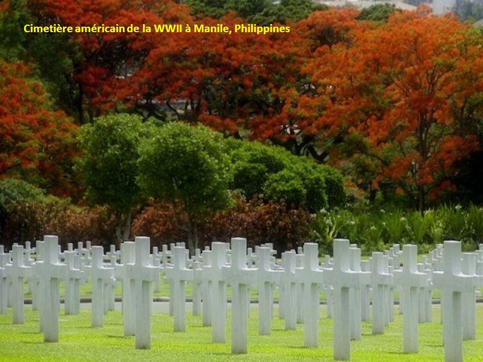 Cimetière américain de la WWII à Manile, Philippines