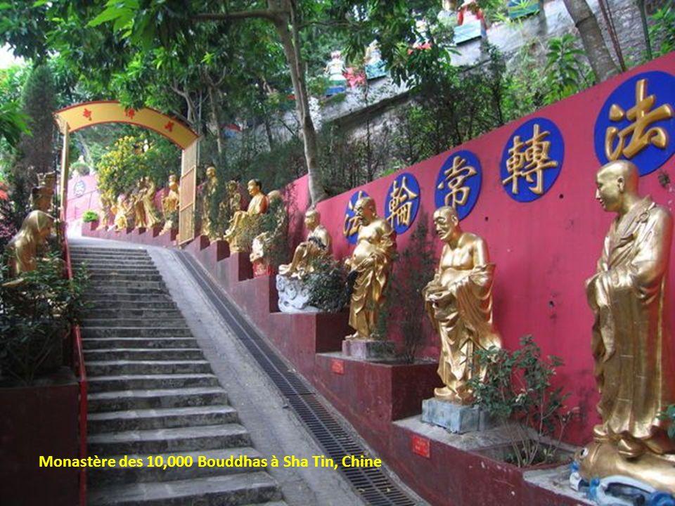 Monastère des 10,000 Bouddhas à Sha Tin, Chine