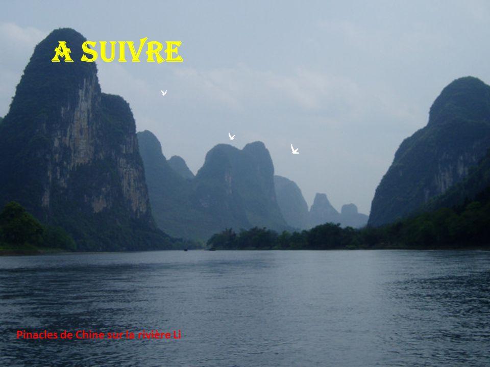 A suivre Pinacles de Chine sur la rivière Li