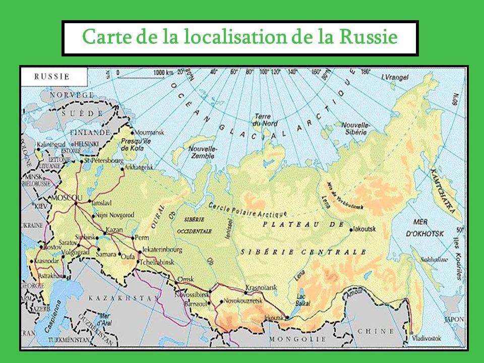 Carte de la localisation de la Russie