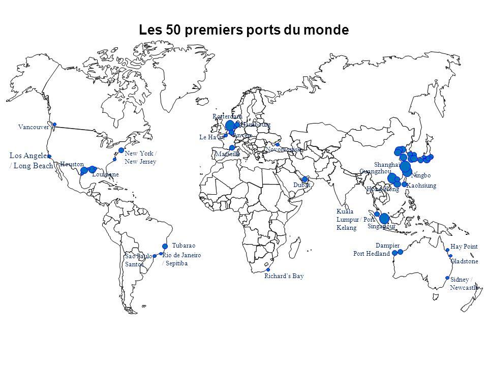 Les 50 premiers ports du monde
