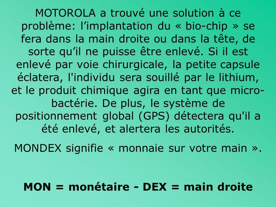 MON = monétaire - DEX = main droite