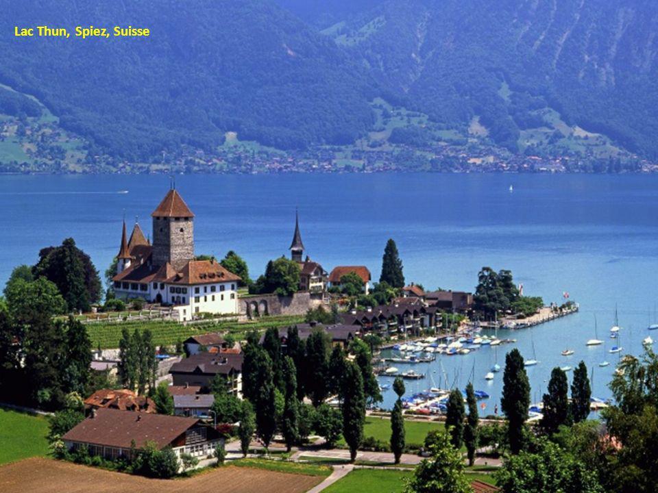 Lac Thun, Spiez, Suisse