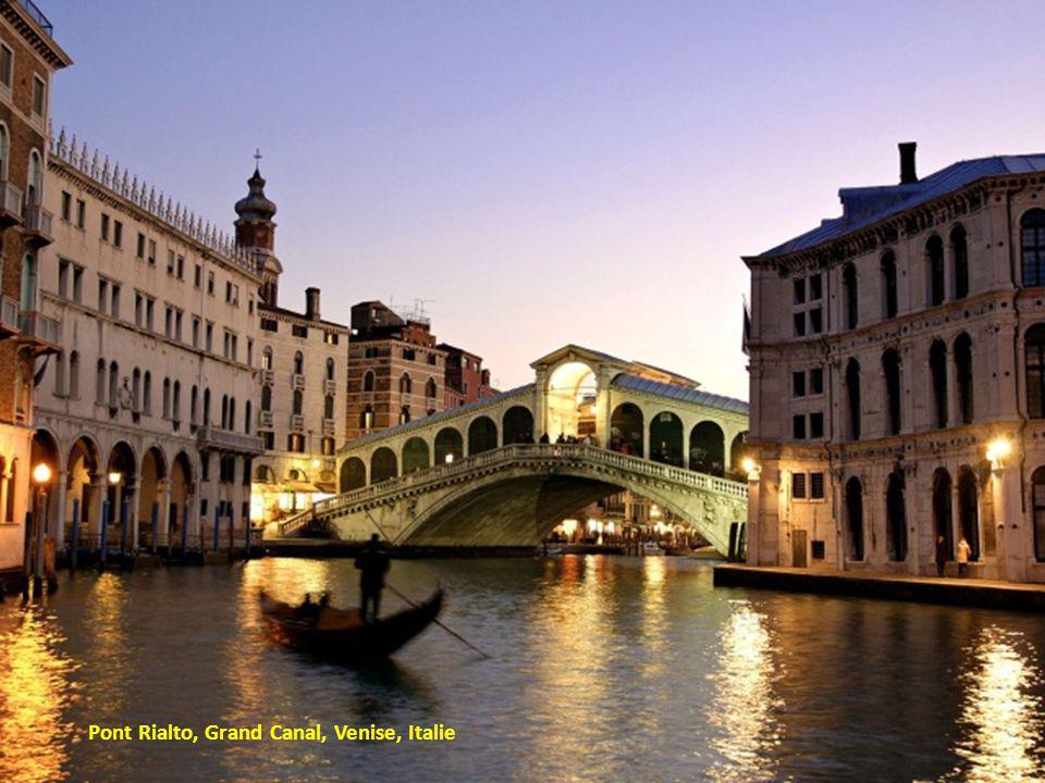Pont Rialto, Grand Canal, Venise, Italie