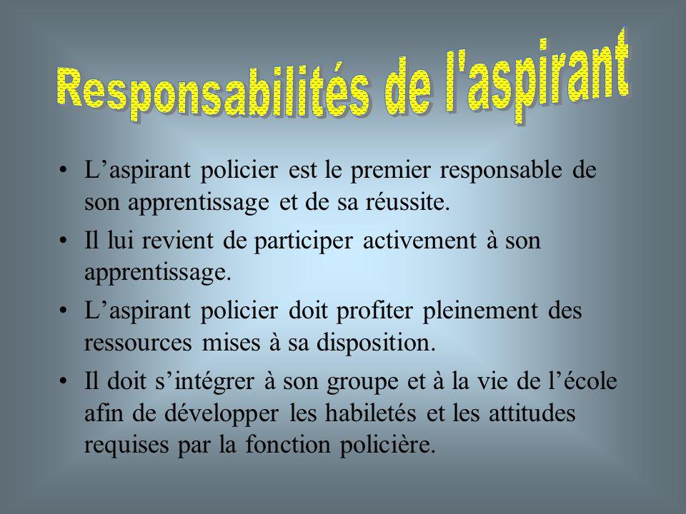 Responsabilités de l aspirant