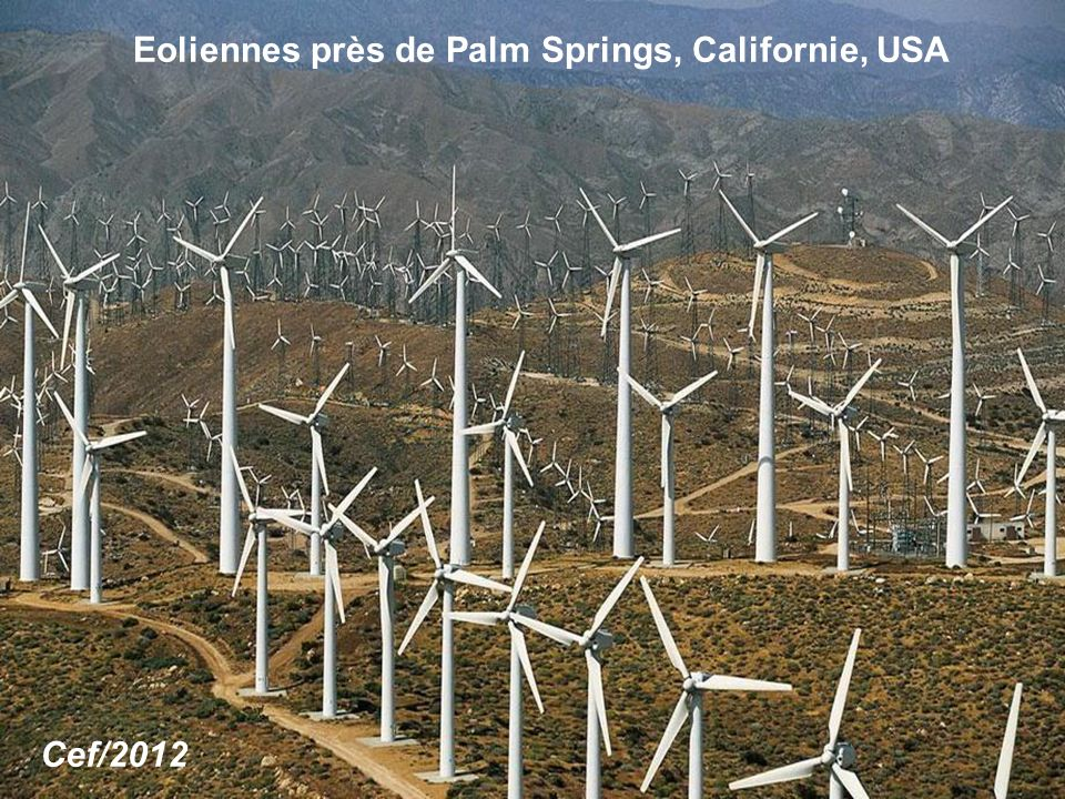 Eoliennes près de Palm Springs, Californie, USA