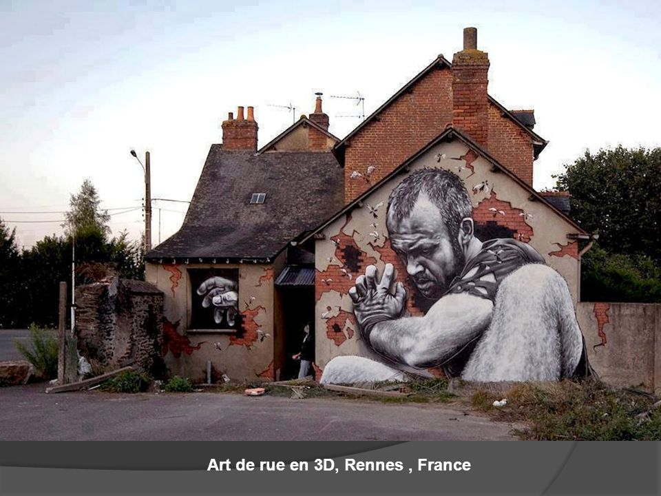Art de rue en 3D, Rennes , France