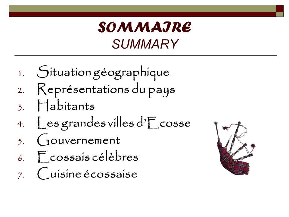 SOMMAIRE SUMMARY Situation géographique Représentations du pays