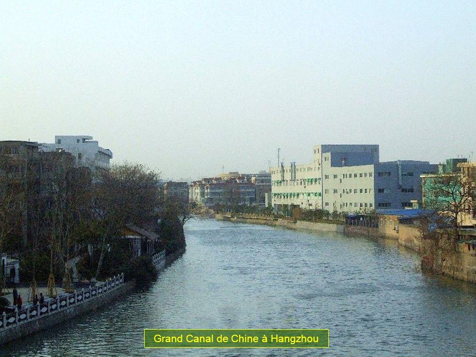 Grand Canal de Chine à Hangzhou
