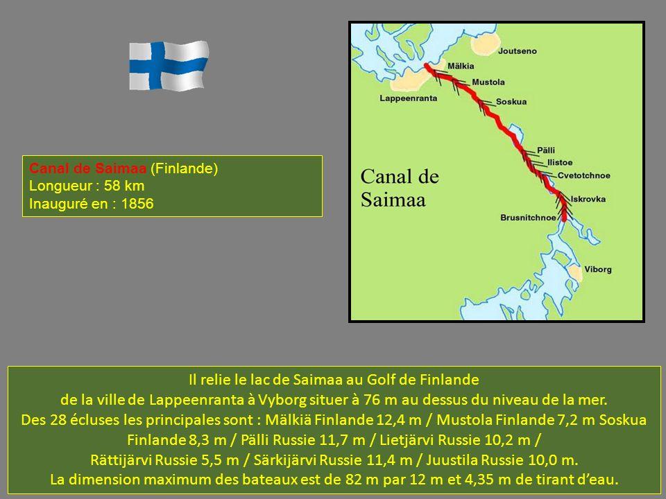 Il relie le lac de Saimaa au Golf de Finlande