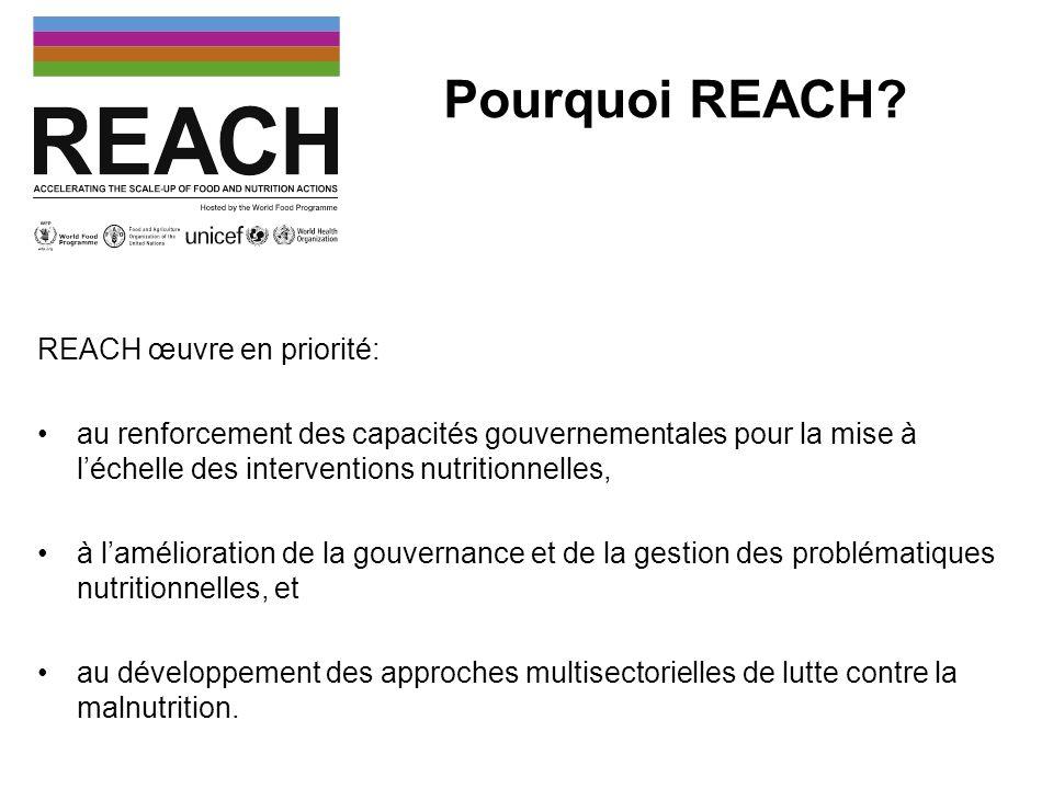 Pourquoi REACH REACH œuvre en priorité: