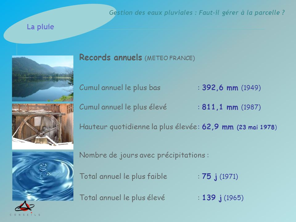 Records annuels (METEO FRANCE)
