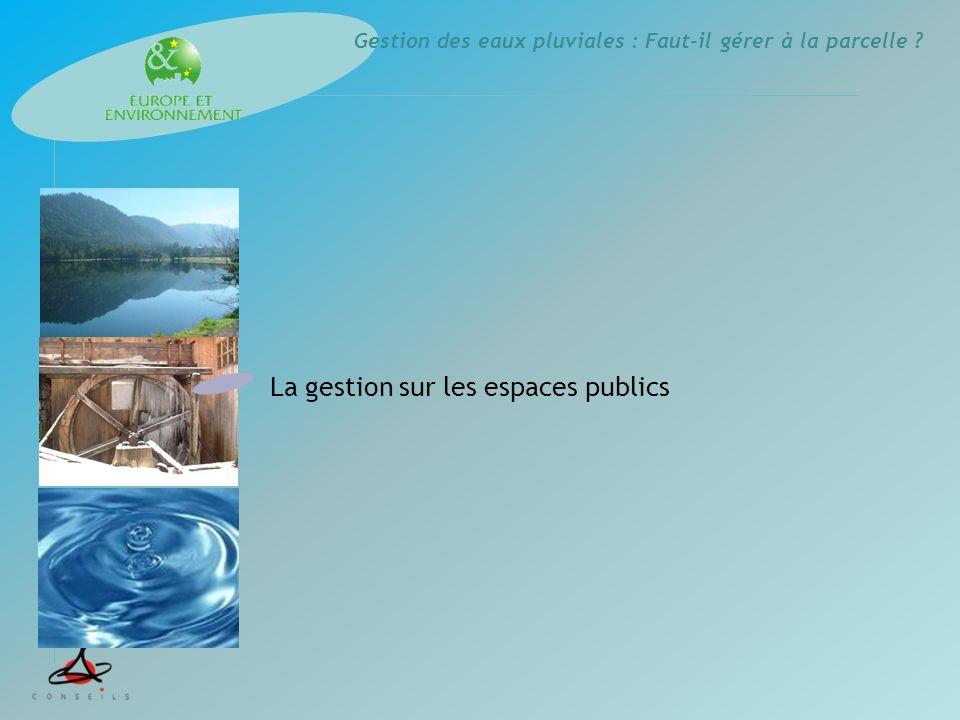 La gestion sur les espaces publics
