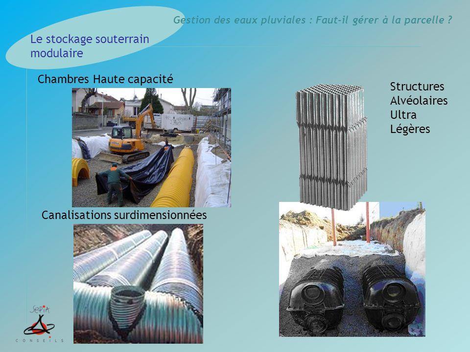Le stockage souterrain modulaire