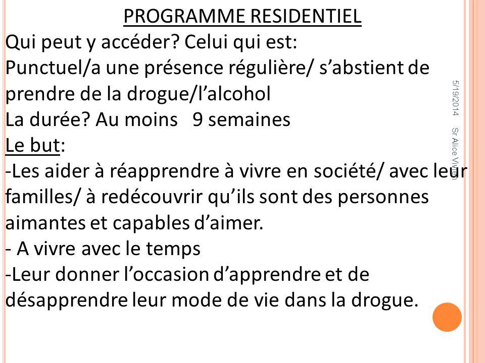 PROGRAMME RESIDENTIEL