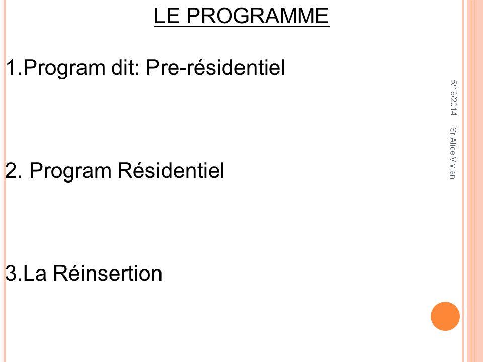 Program dit: Pre-résidentiel