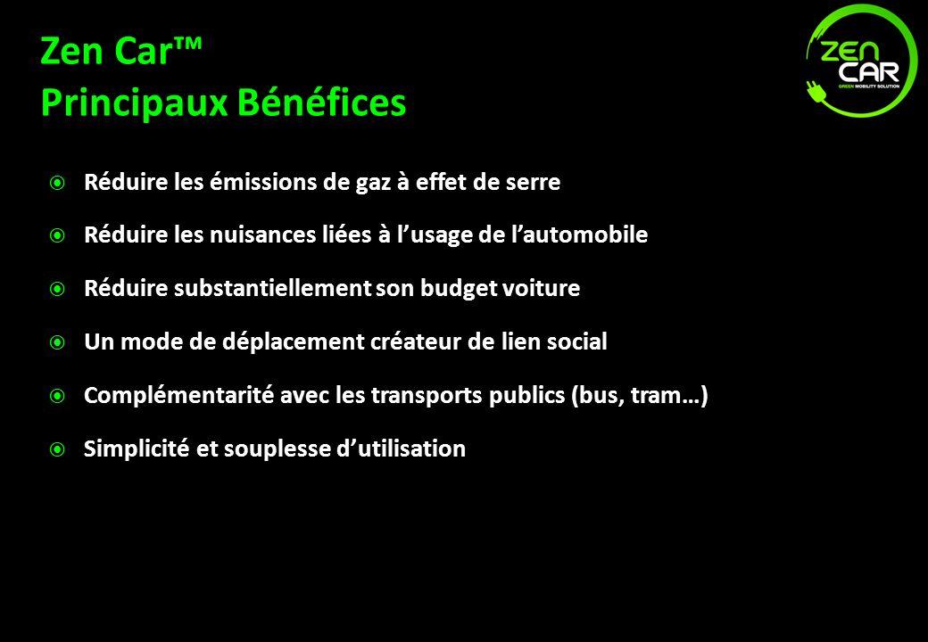 Zen Car™ Principaux Bénéfices