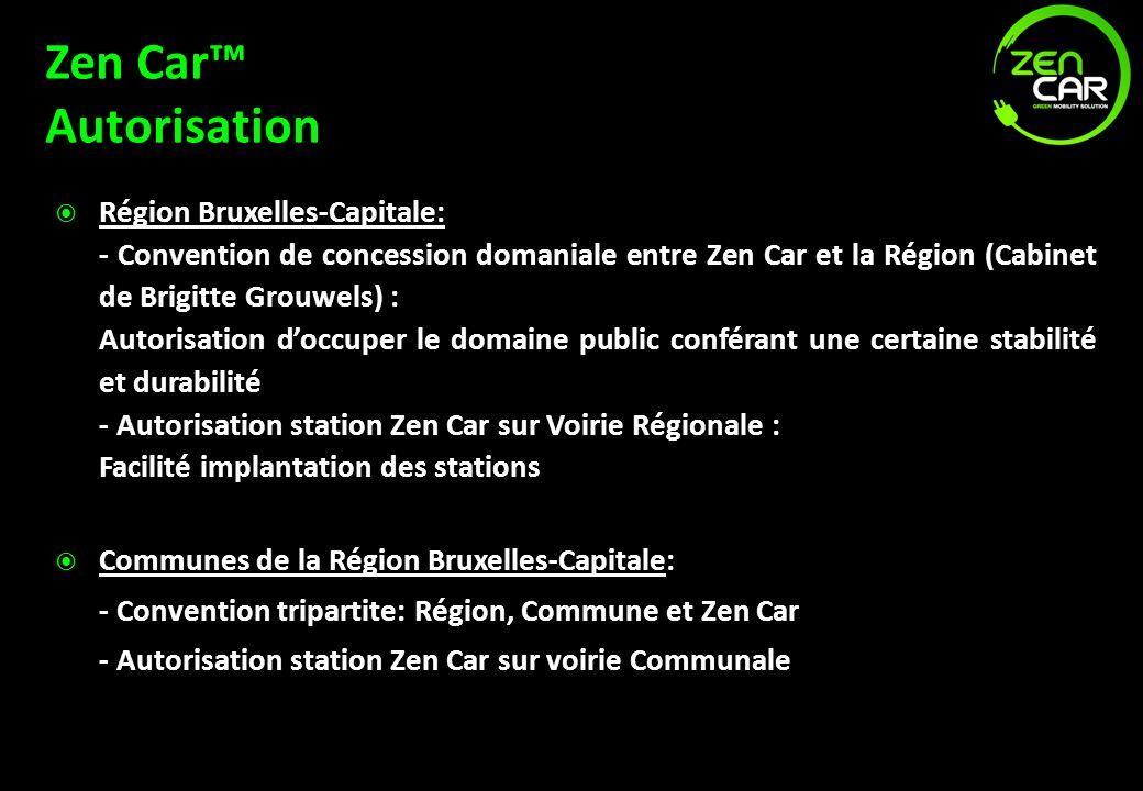 Zen Car™ Autorisation Région Bruxelles-Capitale: