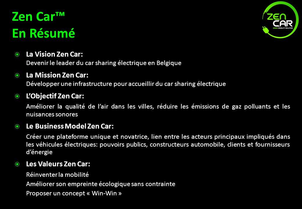Zen Car™ En Résumé La Vision Zen Car: