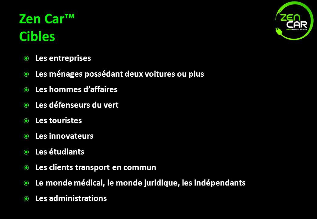 Zen Car™ Cibles Les entreprises