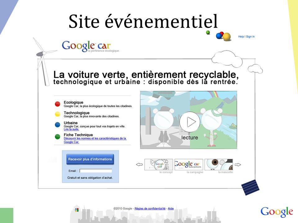 Site événementiel
