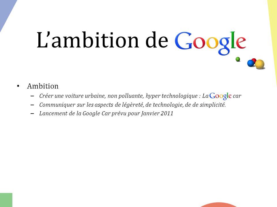 L'ambition de Google Ambition