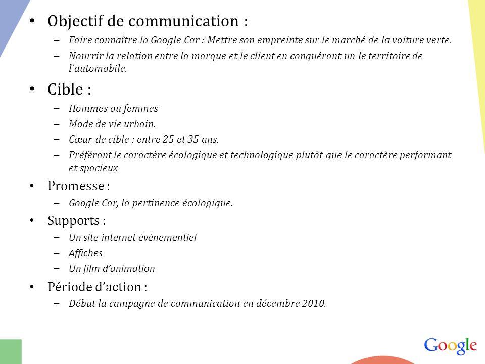 Objectif de communication :