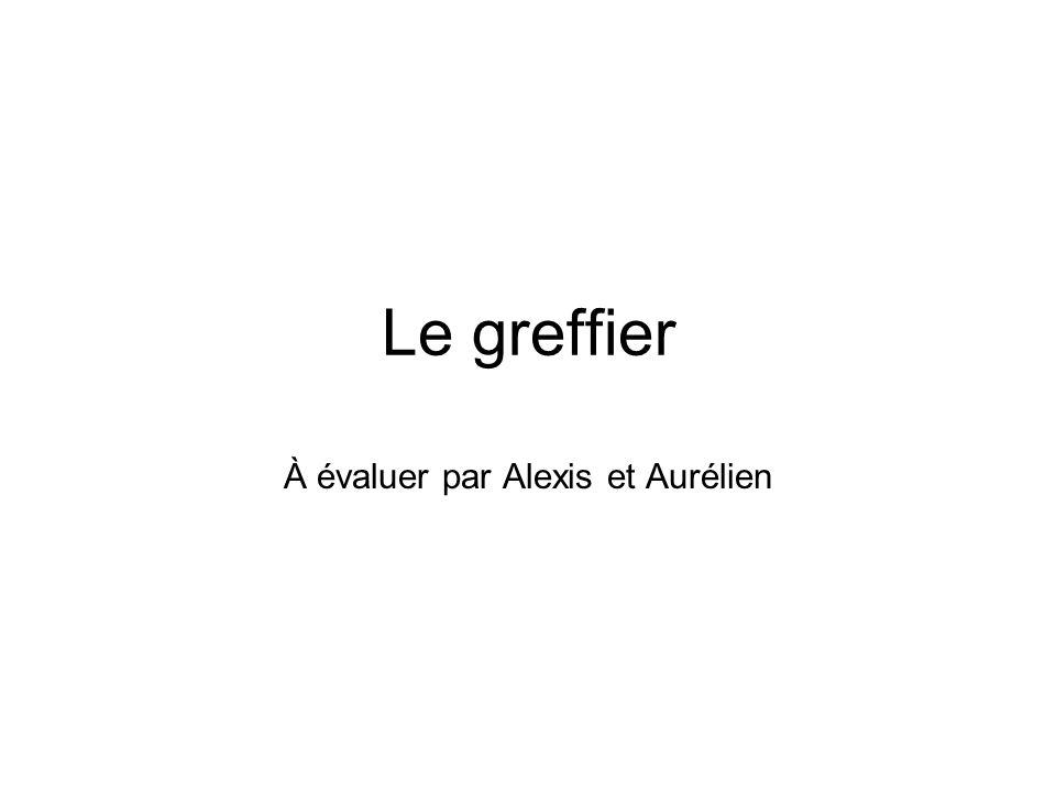 À évaluer par Alexis et Aurélien