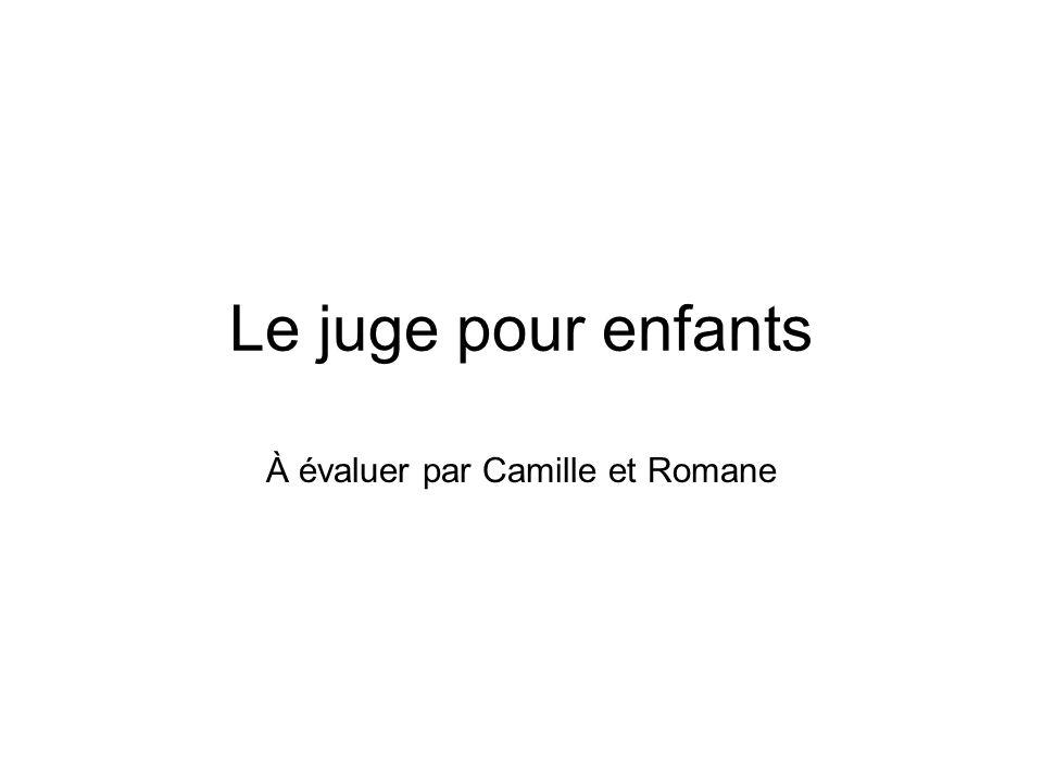 À évaluer par Camille et Romane