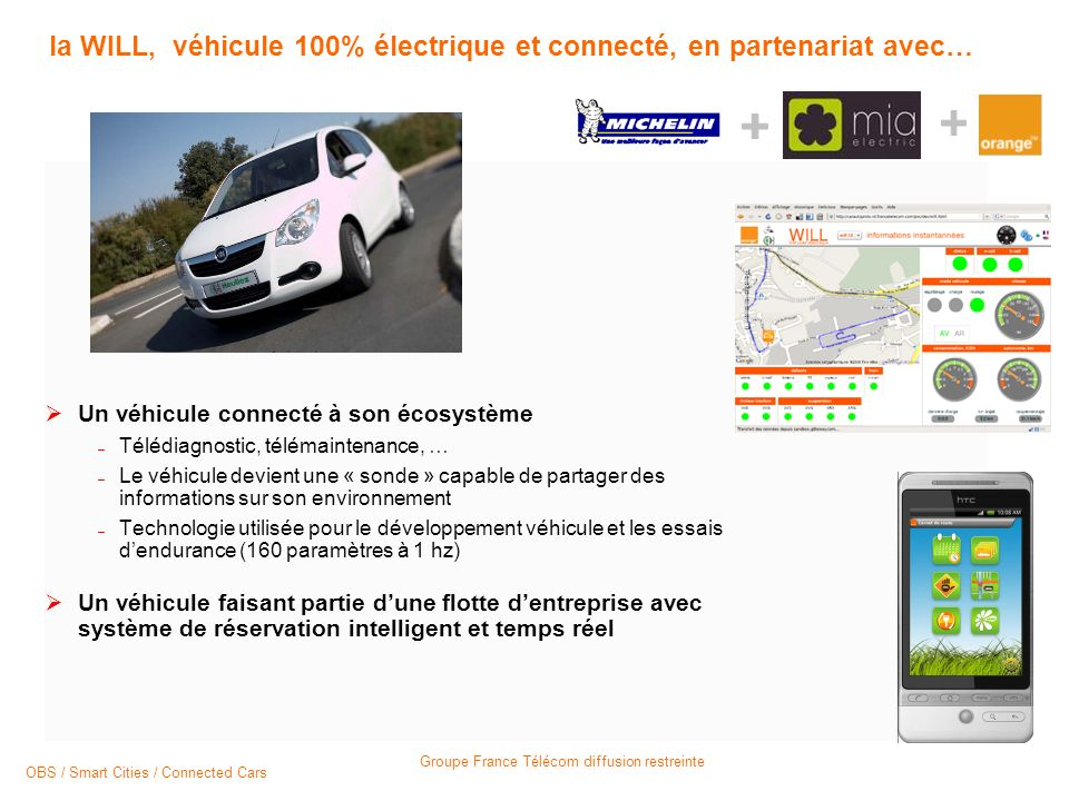 la WILL, véhicule 100% électrique et connecté, en partenariat avec…