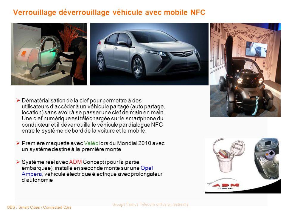 Verrouillage déverrouillage véhicule avec mobile NFC