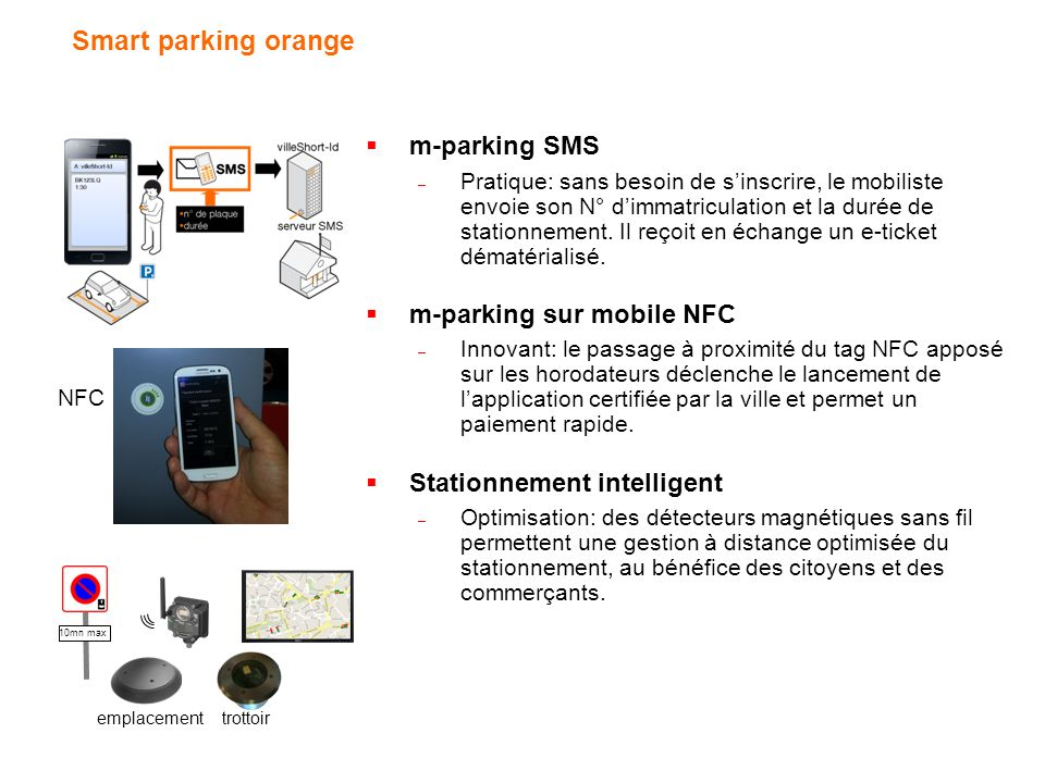 Smart parking orange m-parking SMS m-parking sur mobile NFC