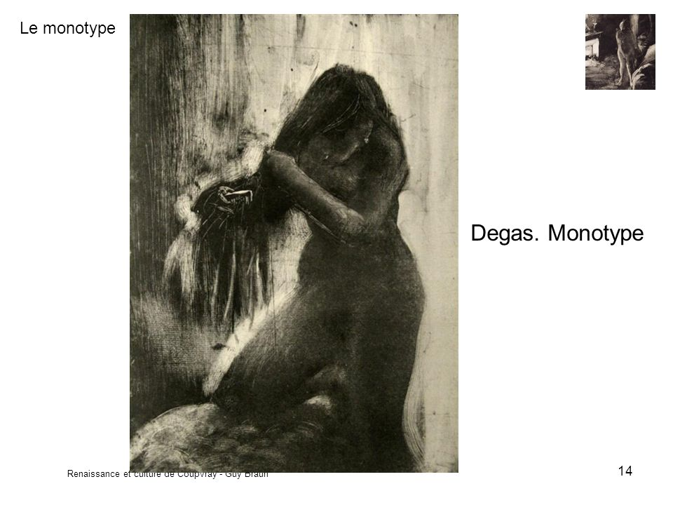 Degas. Monotype