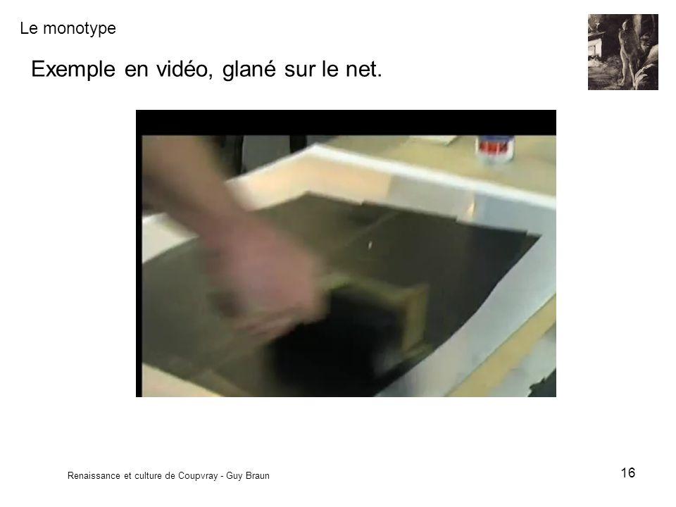 Exemple en vidéo, glané sur le net.