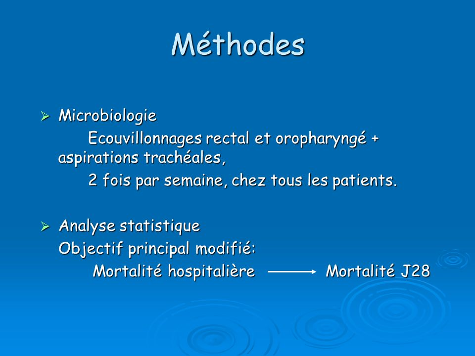 Méthodes Microbiologie