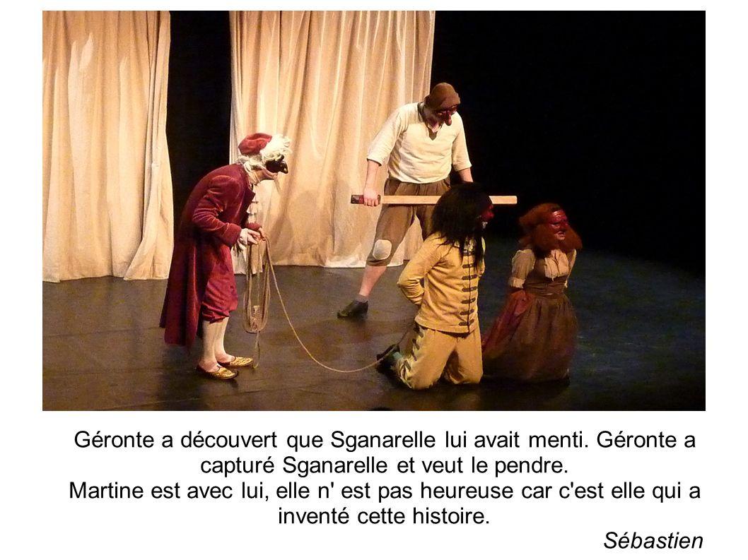 Géronte a découvert que Sganarelle lui avait menti