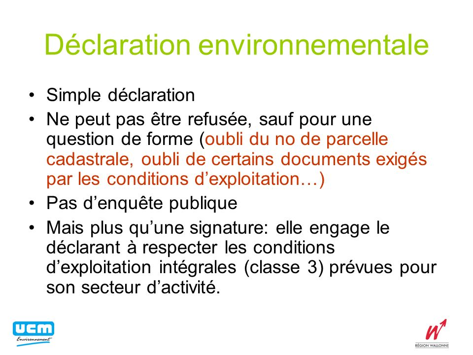 Déclaration environnementale